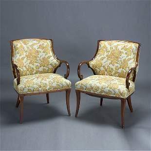 Pair of Art Nouveau Style Armchairs