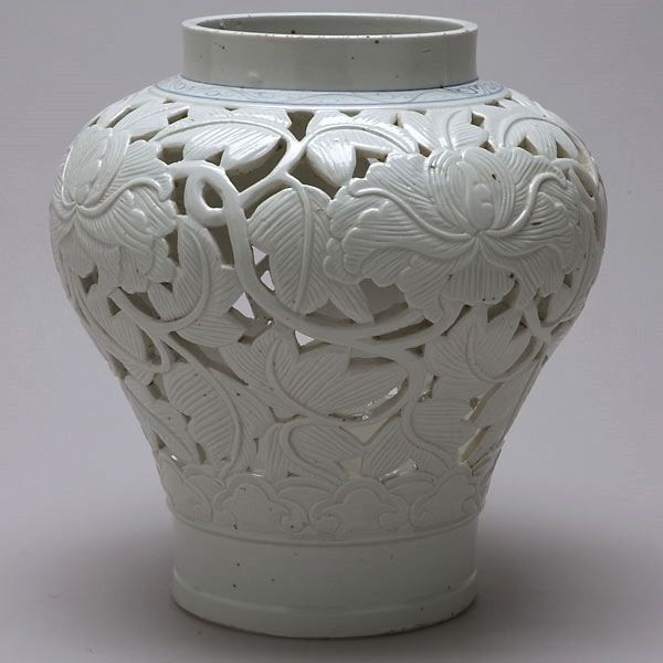 Korean Reticulated Porcelain Vase 18th/19th C.