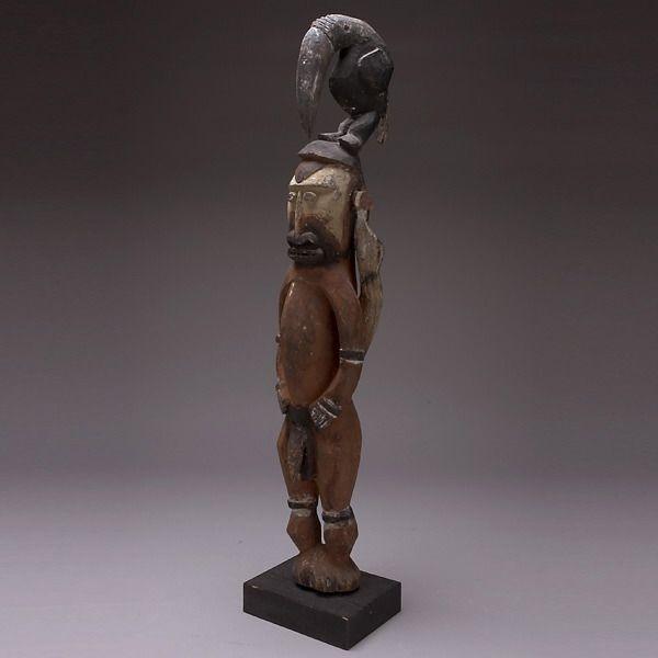 PAPUA NEW GUINEA ART SEPIK ABELAM FIGURE W BIRD