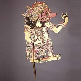 BALI ART SHADOW PUPPET WAYANG KULIT PRE-1900
