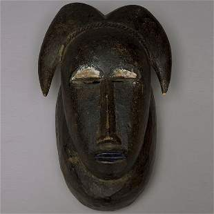 """AFRICAN ART BAULE MASK OLD AND FINE REFINED """"COOL"""