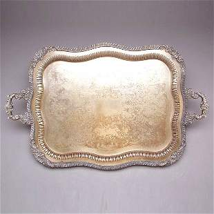 Two Handled I.S. Plated Tea Tray