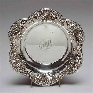Woodside Sterling Repousse Berry Bowl