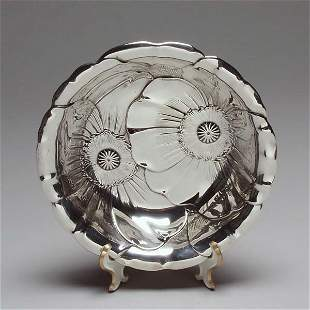 Wallace Sterling Repousse Poppy Bowl