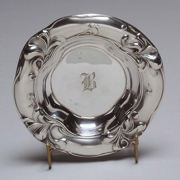 1018: Art Nouveau Gorham Sterling Repousse  Bowl