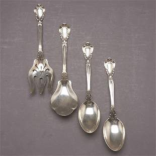 4 Gorham Chantilly Sterling Serving Pieces