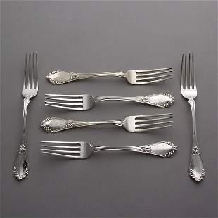 Six Frank Smith Sterling Dinner Forks