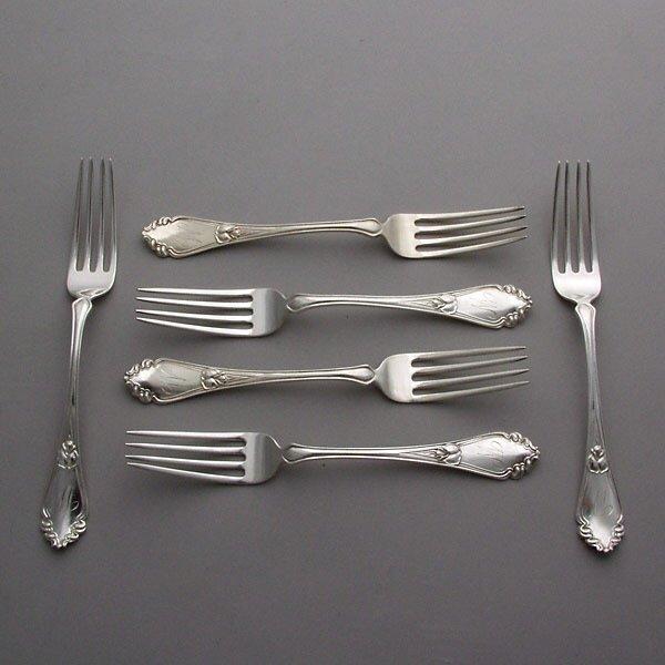 1020: Six Frank Smith Sterling Dinner Forks