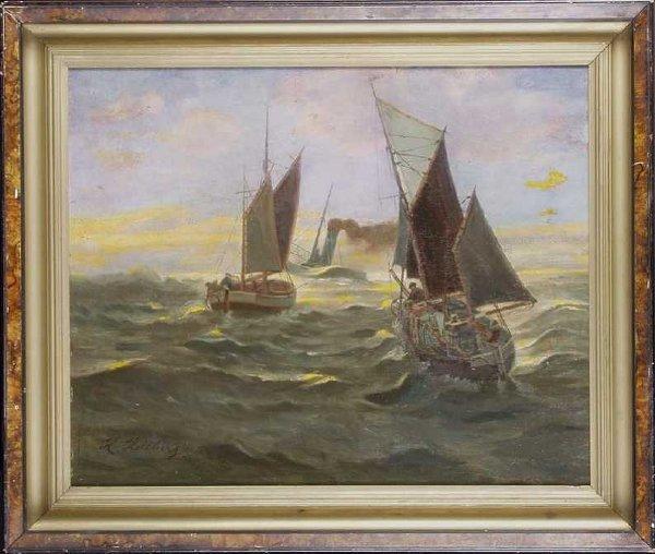 564: Tugs in a Stormy Sea,H. Hellberg
