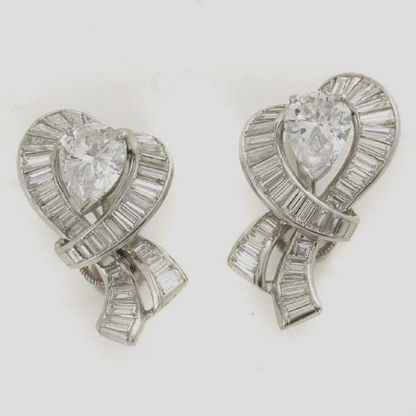 613: PLATINUM TIFFANY & CO. DIAMOND EARRINGS