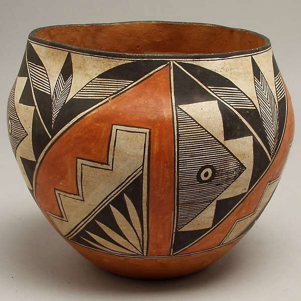 18: VINTAGE ACOMA PUEBLO INDIAN POTTERY BOWL