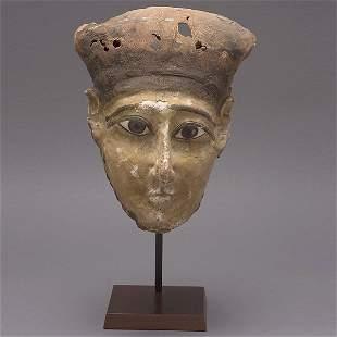 Egyptian Painted Wood Mask