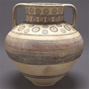Cypriot Painted Ceramic Vessel