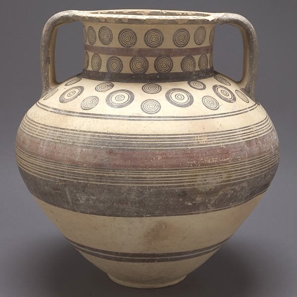 301: Cypriot Painted Ceramic Vessel