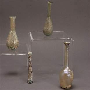 Four Roman Glass Vials