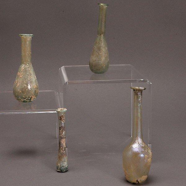 308: Four Roman Glass Vials