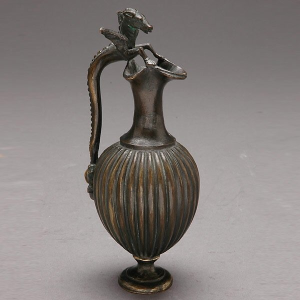 309: Italian Grand Tour Patinated Bronze Ewer