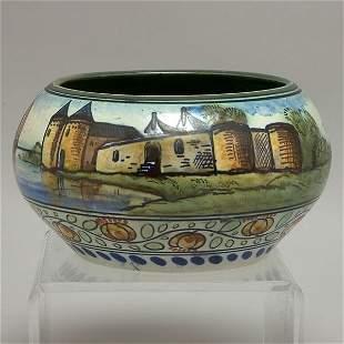 Dutch Gouda Tin Glazed Earthenware Vase
