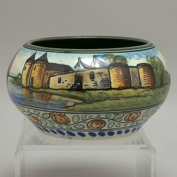 315: Dutch Gouda Tin Glazed Earthenware Vase