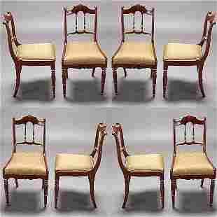 Set of Eight Italian Side Chairs