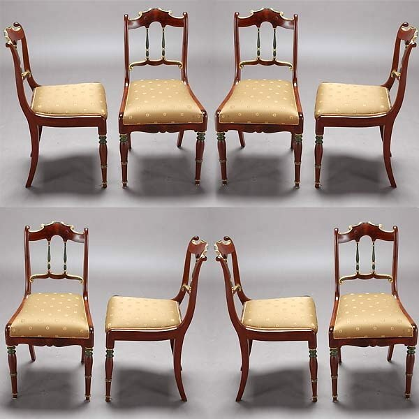 317: Set of Eight  Italian Side Chairs