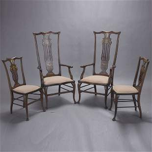 Six Continental Dining Chairs