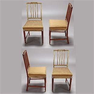 Set of Four Russian Neoclassical Chairs