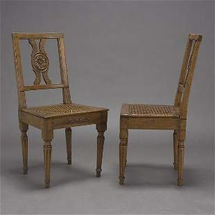 Pair of Italian Neoclassical Side Chairs
