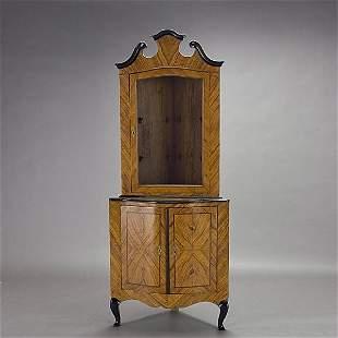 Pair of Italian Rococo Corner Cabinets