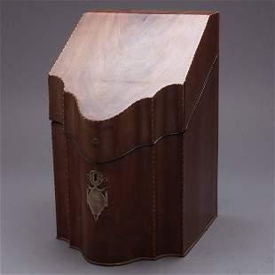 George III Inlaid Mahogany Knife Box,