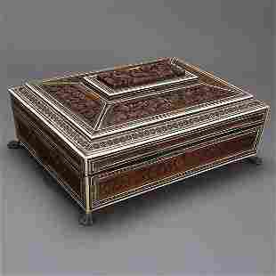 Anglo-Indian Levantine& Ivory Inlaid Sewing Box