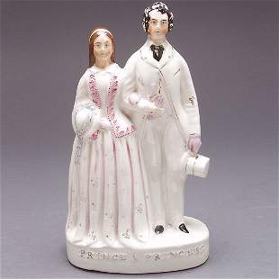 Staffordshire Figural Group of Prince and Princess