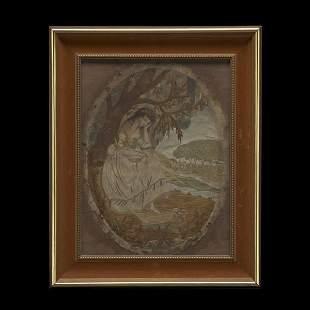 Anglo-Irish Silk Needlework Picture
