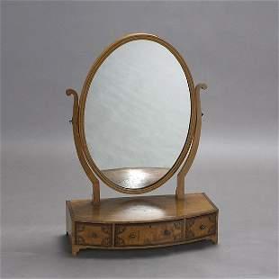Late Regency Inlaid Satinwood Dressing Mirror