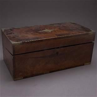 Victorian Brass Mounted Mahogany Writing Desk
