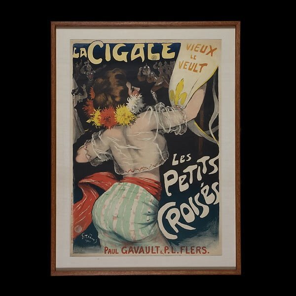 657: Jules Grun French Ad Poster 1900 Litho Beautiful