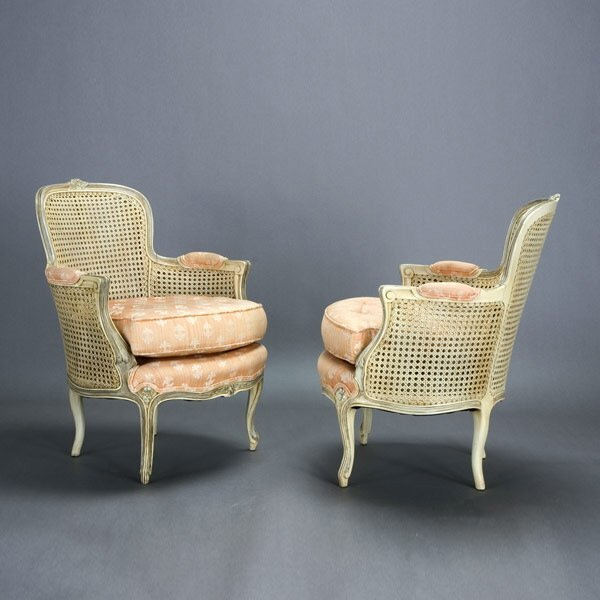 1005: Pair of Louis XV Style Armchairs