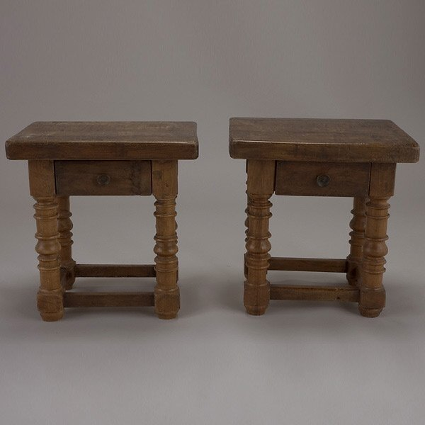1011: Pair of Baroque Style End Tables