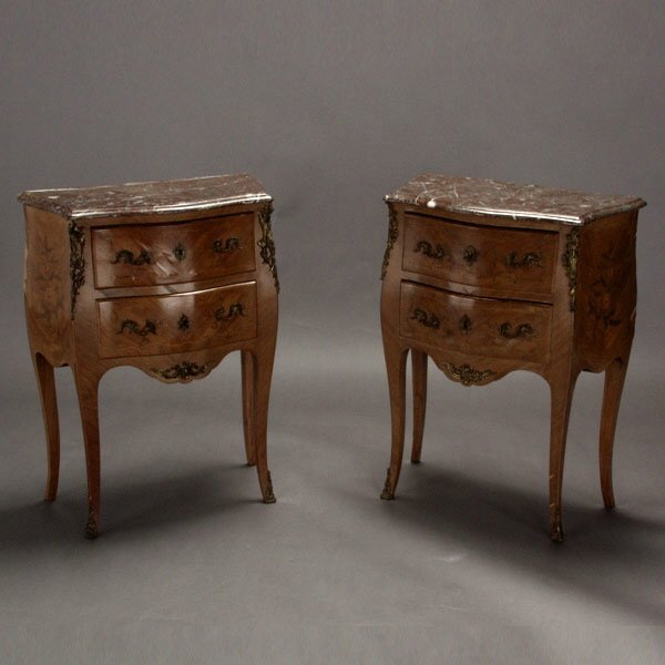 1012: Pair of Louis XV Style Commodes