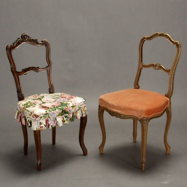 1023: Two Rococo Style Side Chairs