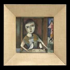 1442: Polia Pillin, Modern Art, Glazed Ceramic Tile.