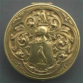 215: TIFFANY & CO MAKERS 18K GOLD COMPACT CIRCA 1925