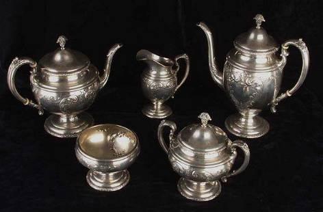 Towle Sterling 5 piece coffee & tea set