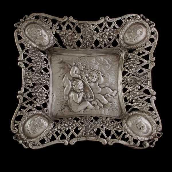 3: Dutch Silver Reticulated Tray