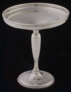 5: Sterling footed candy dish
