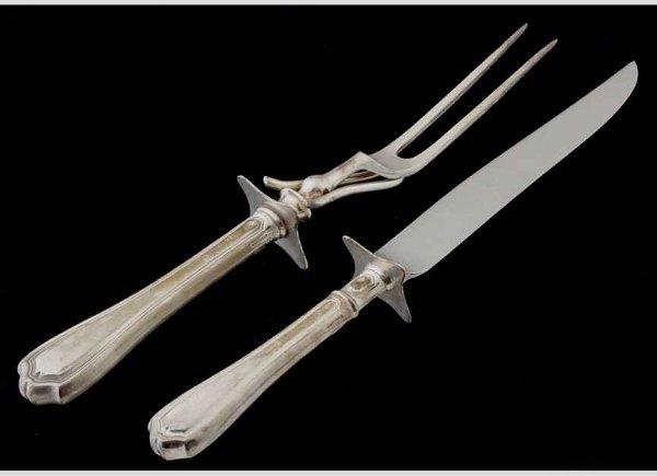 7: Reed & Barton sterling carving set