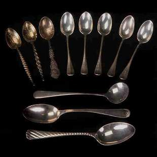 Eleven American Sterling Spoons