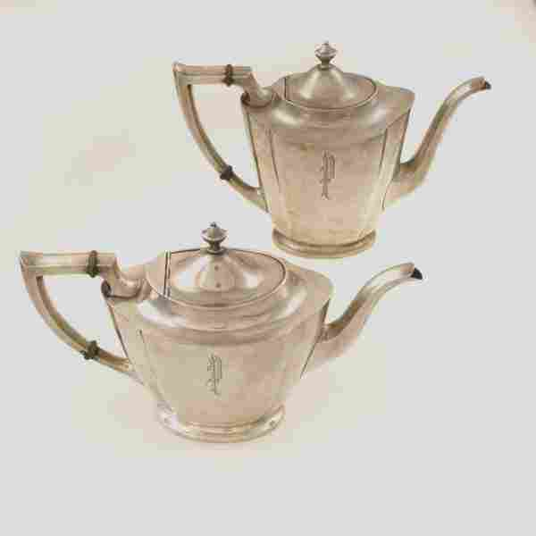 sterling coffee pot and tea pot