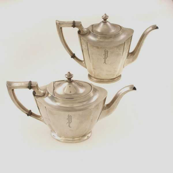 11: sterling coffee pot and tea pot