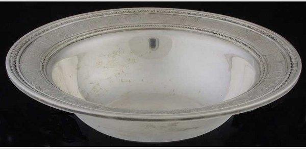 22: International Silver  sterling bowl Wedgw